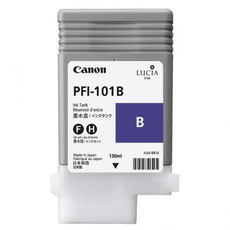 Canon LUCIA PFI-101 B - 130 ml - bleu - originale - réservoir d'encre - pour imagePROGRAF iPF5000, iPF5100, iPF6100, iPF6200