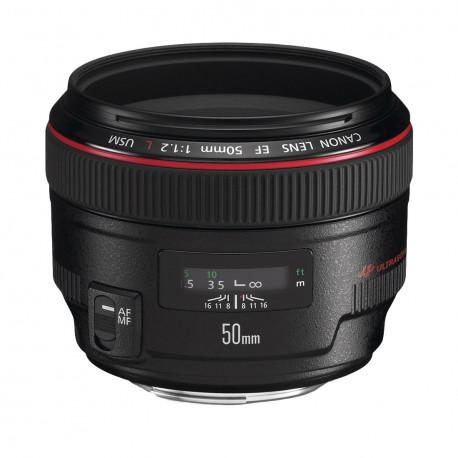 Canon EF - Objectif - 50 mm - f/1.2 L USM - Canon EF - pour EOS 1000, 1D, 50, 500, 5D, 7D, Kiss F, Kiss X2, Kiss X3, Rebel T1i,
