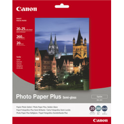 Canon Photo Paper Plus SG-201 - Semi-brillant - 203 x 254 mm - 260 g/m² - 20 feuille(s) papier photo - pour PIXMA iP3300, iP430