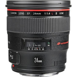 Canon EF - Objectif grand angle - 24 mm - f/1.4 L II USM - Canon EF - pour EOS 1000, 1D, 50, 500, 5D, 7D, Kiss F, Kiss X2, Kiss