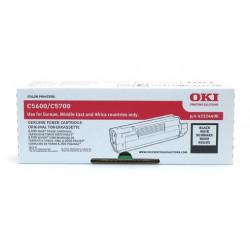 OKI - Noir - originale - cartouche de toner - pour C5600, 5600dn, 5600n, 5700dn, 5700n