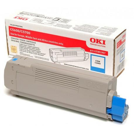 OKI - Cyan - original - cartouche de toner - pour C5600, 5600dn, 5600n, 5700dn, 5700n