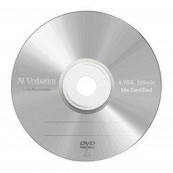 Verbatim - 5 x dvd-r 4.7 go 16x - mat transparent - boîtier cd - support de stockage