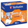 Verbatim - 10 x dvd-r 4.7 go 16x - surface imprimable photo large - boîtier cd - support de stockage