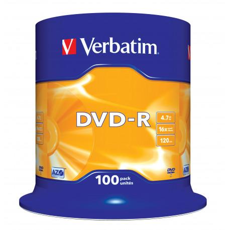 Verbatim DVD-R AZO 16X 4.7GB MATT SILVER SURFACE - spindle 100