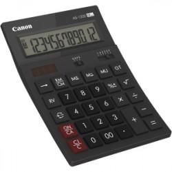 Canon AS-1200 - Calculatrice de bureau - 12 chiffres - panneau solaire, pile - gris foncé