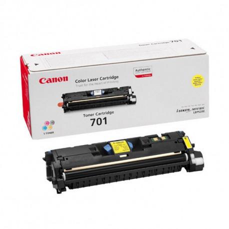 Canon 701 - Jaune - original - cartouche de toner - pour ImageCLASS MF8180c, Laser Shot LBP-5200, LaserBase MF8180C