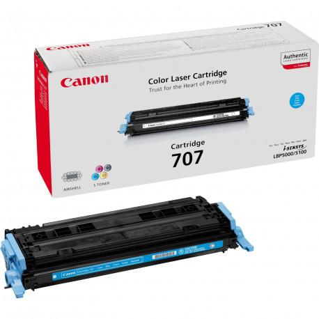 Canon 707C - Cyan - original - cartouche de toner - pour i-SENSYS LBP5000, LBP5100, Laser Shot LBP-5000, 5100