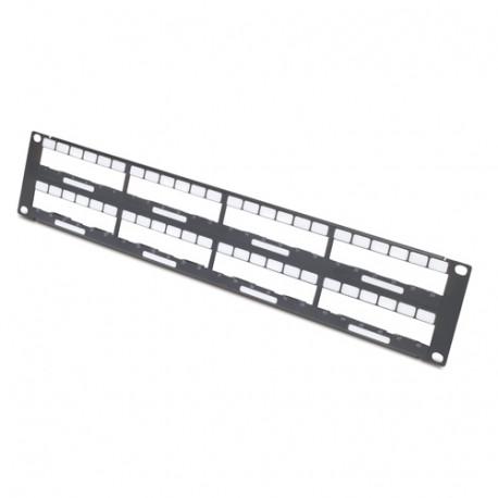 APC Data Distribution 2U Panel - Boîtier de panneau de câblage - 2U - pour P/N: AR106VI, SCL400RMJ1U, SCL500RMI1UC, SCL500RMI1U