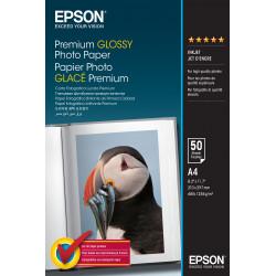 Epson Premium - Brillant - enduit de résine - A4 (210 x 297 mm) - 255 g/m² - 50 feuille(s) papier photo - pour EcoTank ET-2650,