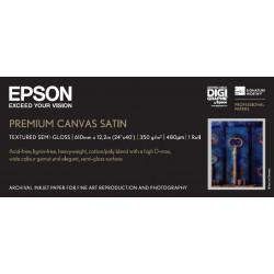 Epson premierart water resistant canvas - papier - toile coton couchee brillante resistante a l`eau - rouleau a1 (61,0 cm x 12,
