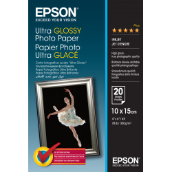 Epson Ultra Glossy Photo Paper - Brillant - 100 x 150 mm 20 feuille(s) papier photo - pour EcoTank ET-2710, 2712, 2714, 2715, 2