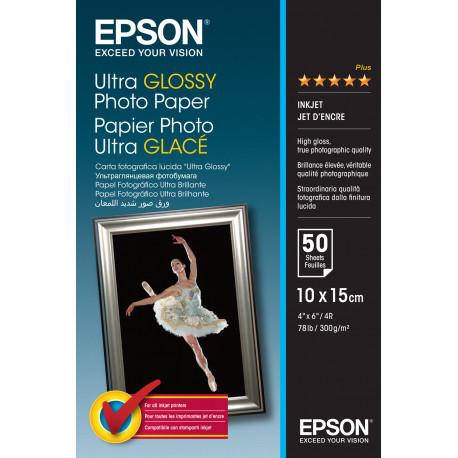 Epson Ultra Glossy Photo Paper - Brillant - 100 x 150 mm 50 feuille(s) papier photo - pour EcoTank ET-2710, 2711, 2712, 2714, 2