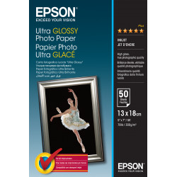 Epson Ultra Glossy Photo Paper - Brillant - 130 x 180 mm 50 feuille(s) papier photo - pour EcoTank ET-2710, 2711, 2712, 2714, 2