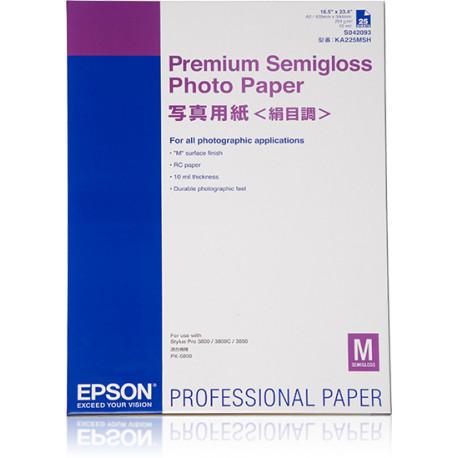 Epson Premium Semigloss Photo Paper - Semi-brillant - A2 (420 x 594 mm) - 251 g/m² - 25 feuille(s) papier photo - pour SureColo