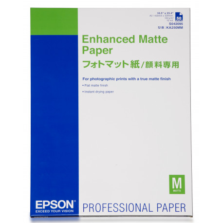 Epson Enhanced Matte - Mat - 260 micromètres - A2 (420 x 594 mm) - 192 g/m² - 50 feuille(s) papier - pour SureColor P5000, SC-P