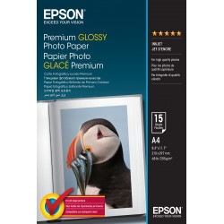 Epson Premium Glossy Photo Paper - Brillant - A4 (210 x 297 mm) 15 feuille(s) papier photo - pour EcoTank ET-2650, 2750, 2751,
