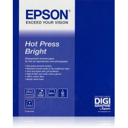 Epson Fine Art Hot Press Bright - Coton - mat lisse - blanc brillant - rouleau (43,2 cm x 15 m) - 330 g/m² - 1 rouleau(x) papie