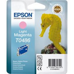 Epson T0486 - 13 ml - magenta clair - originale - blister - cartouche d'encre - pour Stylus DX3800, Stylus Photo R200, R220, R