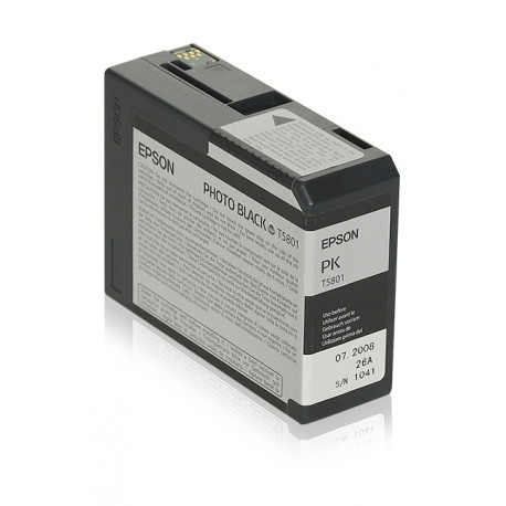 Epson T5801 - 80 ml - photo noire - originale - cartouche d'encre - pour Stylus Pro 3800, Pro 3880