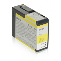 Epson T5804 - 80 ml - jaune - originale - cartouche d'encre - pour Stylus Pro 3800, Pro 3880