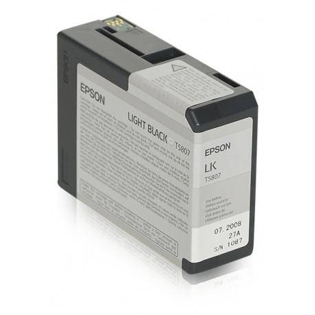 Epson T580 - 80 ml - noir clair - originale - cartouche d'encre - pour Stylus Pro 3800, Pro 3880