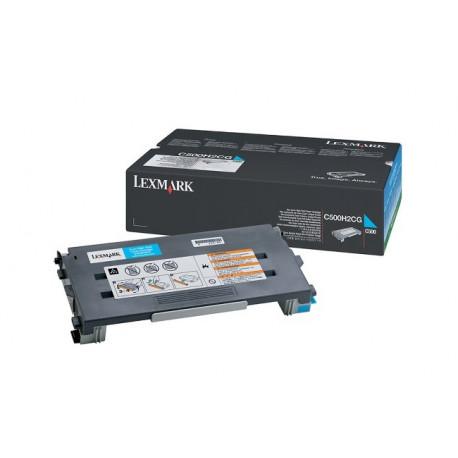 Lexmark - À rendement élevé - cyan - original - cartouche de toner LCCP - pour Lexmark C500n, X500n, X502n