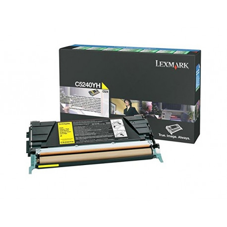 Lexmark - cartouche de toner - a rendement eleve - 1 x jaune - 5000 pages - lrp