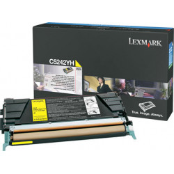 Lexmark - cartouche de toner - a rendement eleve - 1 x jaune - 5000 pages