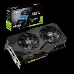 ASUS DUAL-GTX1660S-O6G-EVO - OC Edition - carte graphique - GF GTX 1660 SUPER - 6 Go GDDR6 - PCIe 3.0 x16 - DVI, HDMI, DisplayP