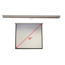 """Acer M87-S01MW - Écran de projection - montable au plafond, montable sur mur - 87"""" (221 cm) - 4:3 - Matte White - blanc - pour"""