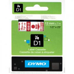 Ruban DYMO DYMO D1 12mmX7m Rouge&Transp