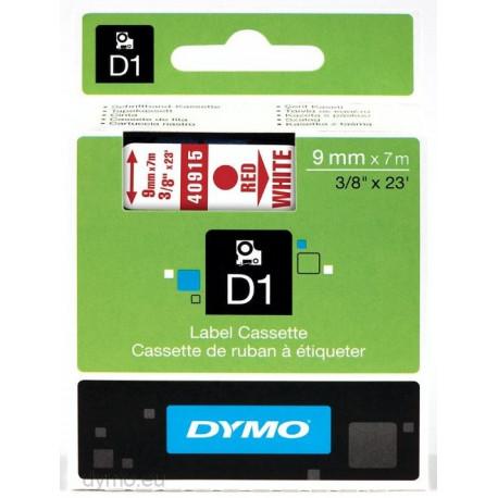 Ruban DYMO DYMO D1 9mmX7m Rouge&W
