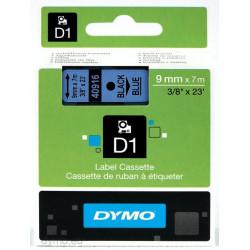 Ruban DYMO DYMO D1 9mmX7m Bk&Bleu