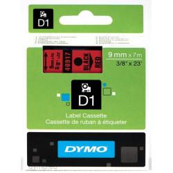 Ruban DYMO DYMO D1 9mm X 7m Bk&Rouge