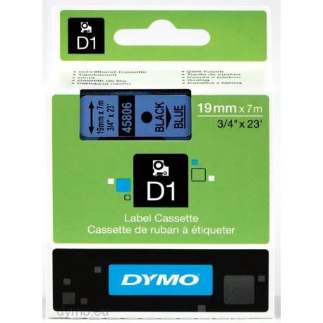 Ruban DYMO DYMO D1 19mmX7m Noir&Bleu