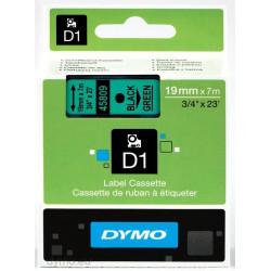 Ruban DYMO DYMO D1 19mmX7m Noir&Vert