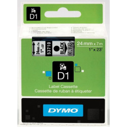 Ruban DYMO DYMO D1 24mmX7m Noir&Transp