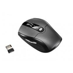 Fujitsu WI610 - Souris - droitiers et gauchers - laser - 6 boutons - sans fil - 2.4 GHz - récepteur sans fil USB - noir argenté