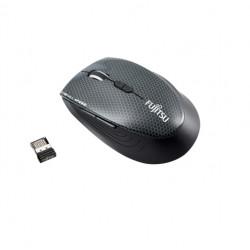 Fujitsu WI910 - Souris - optique - 7 boutons - sans fil - 2.4 GHz - récepteur sans fil USB - Pour la vente au détail - pour Cel