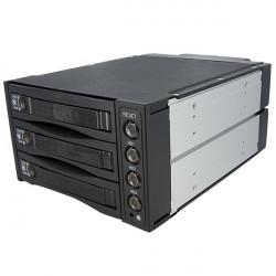 """StarTech.com """"Rack Amovible 2 x 5.25"""""""" pour 3 Disques Durs SATA ou SAS 3.5"""""""" - Face Arrière HDD"""" - Rack de stockage mobile avec"""