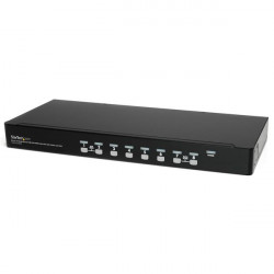 StarTech.com 8 Port 1U Rackmount USB KVM Switch Kit with OSD and Cables - Rack mount KVM - VGA KVM Switch - 8 Port KVM Switch (