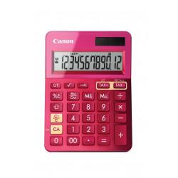 Canon LS-123K - Calculatrice de bureau - 12 chiffres - panneau solaire, pile - rose métallique