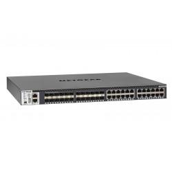 Switch manageable ProSAFE M4300-24X24FSwitch Manageable Stackable avec 48x10G incluant 24x10GBASE-T  et 24xSFP+Niveau 31 alimen