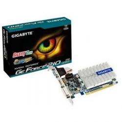 Gigabyte GV-N210SL-1GI - Carte graphique - GF 210 - 1 Go DDR3 - PCIe 2.0 x16 - DVI, D-Sub, HDMI - san ventilateur