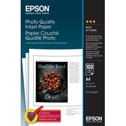 Epson ink jet - papier - papier photo - blanc - a4 (210 x 297 mm) - 102 g/m2 - 100 pc.