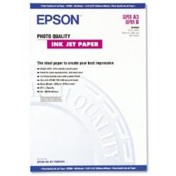 Epson photo quality - papier - papier couche mat - super b (330 x 483 mm) - 102 g/m2 - 100 pc.