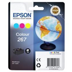 Epson 267 - 7 ml - jaune, cyan, magenta - original - cartouche d'encre - pour WorkForce WF-100W