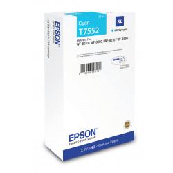 Epson T7552 - 39 ml - taille XL - cyan - original - cartouche d'encre - pour WorkForce Pro WF-8010, WF-8090, WF-8090 D3TWC, WF