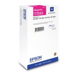 Epson T7553 - 39 ml - taille XL - magenta - original - cartouche d'encre - pour WorkForce Pro WF-8010, WF-8090, WF-8090 D3TWC,